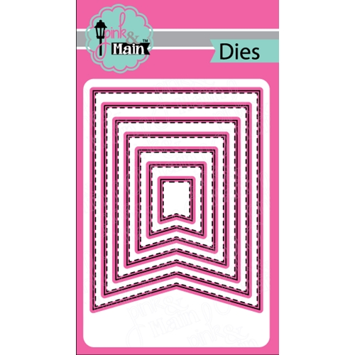 Pink and Main LARGE FISH TAIL BANNER Die Set PNM142 Preview Image