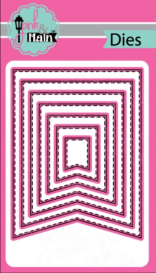 Pink and Main LARGE FISH TAIL BANNER Die Set PNM142 zoom image