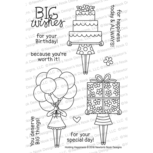 Newton's Nook Designs HOLDING HAPPINESS Clear Stamp Set NN1803S02 Preview Image