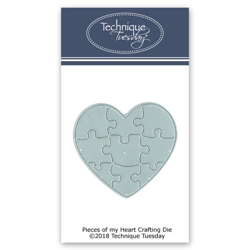 Technique Tuesday PIECES OF MY HEART Crafting DIY Steel Die 02634* Preview Image