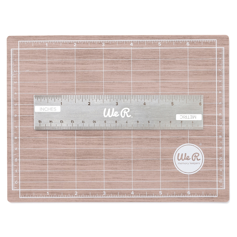 We R Memory Keepers MAGNETIC CUTTING MAT AND MINI RULER Tool 710929 zoom image
