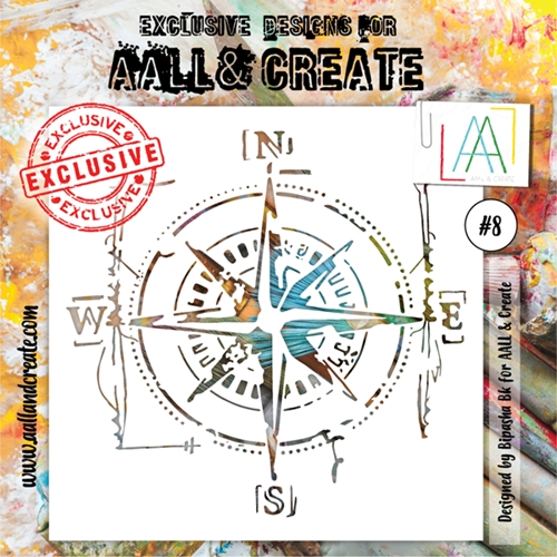 AALL & Create STENCIL 8 6x6 aal10008 Preview Image