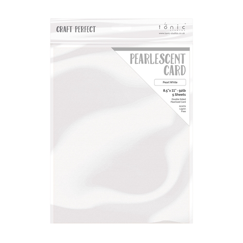 Tonic PEARL WHITE Pearlescent Cardstock 9527e Preview Image