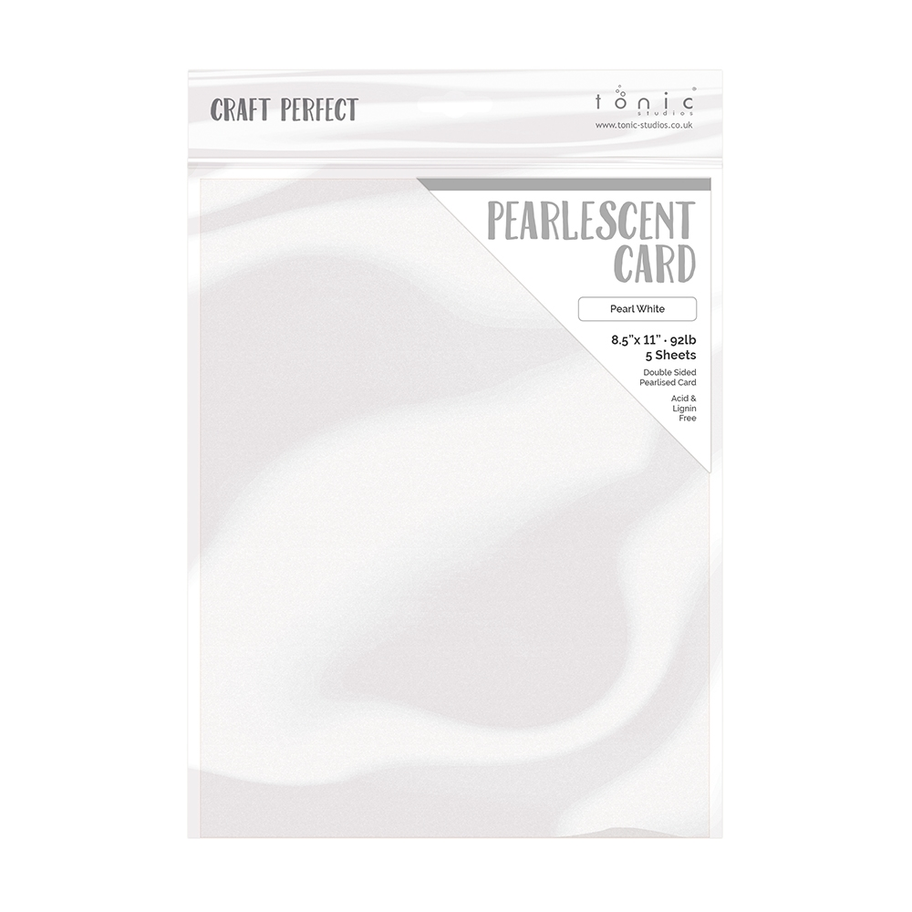 Tonic PEARL WHITE Pearlescent Cardstock 9527e zoom image