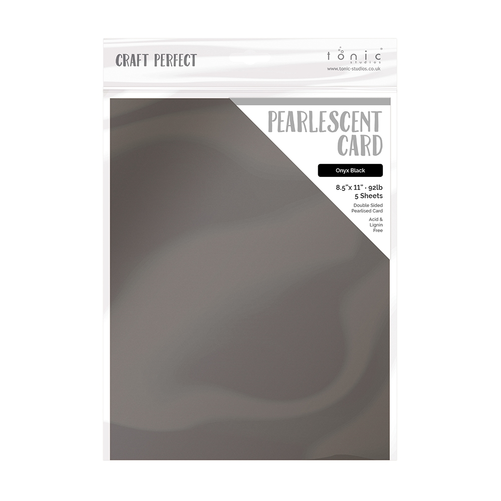 Tonic ONYX BLACK Pearlescent Cardstock 9528e zoom image