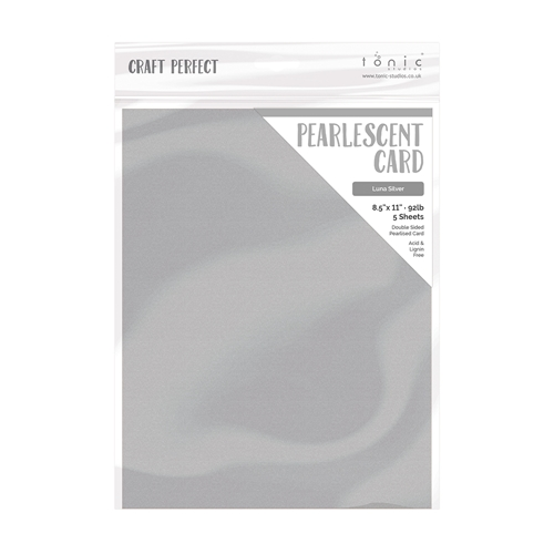 Tonic LUNA SILVER Pearlescent Cardstock 9529e Preview Image