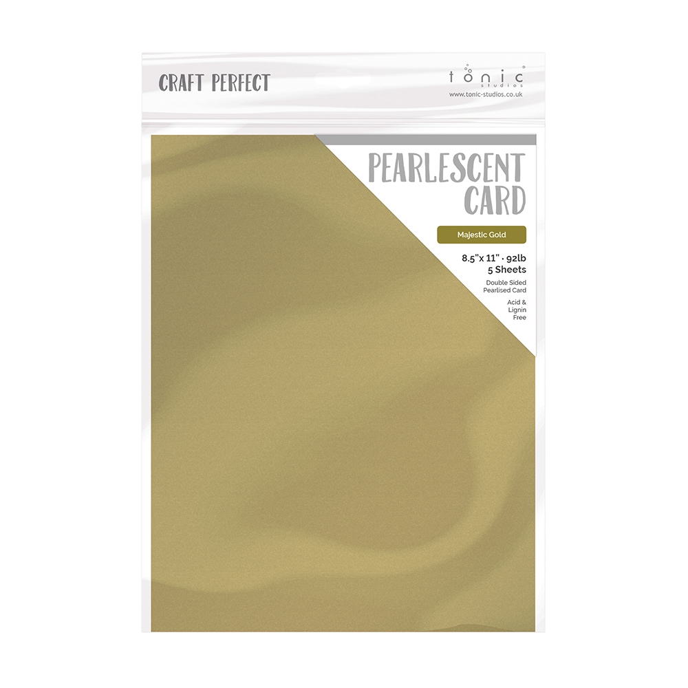 Tonic MAJESTIC GOLD Pearlescent Cardstock 9530e zoom image