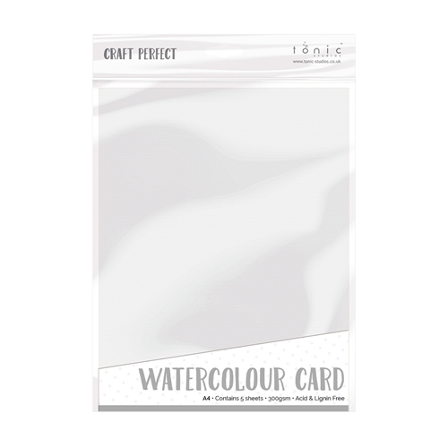 Tonic WHITE WATERCOLOUR CARD A4 Craft Perfect Cardstock 9570e Preview Image