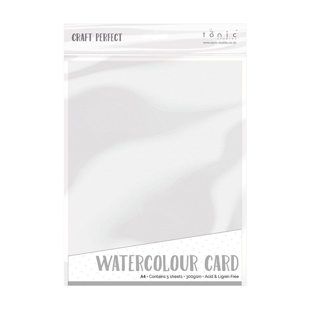 Tonic WHITE WATERCOLOUR CARD A4 Craft Perfect Cardstock 9570e zoom image