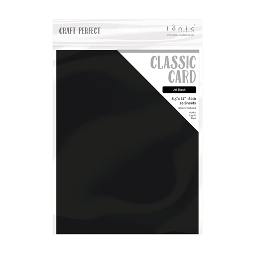 Tonic JET BLACK Craft Perfect Classic Weave Textured Cardstock 9611e Preview Image