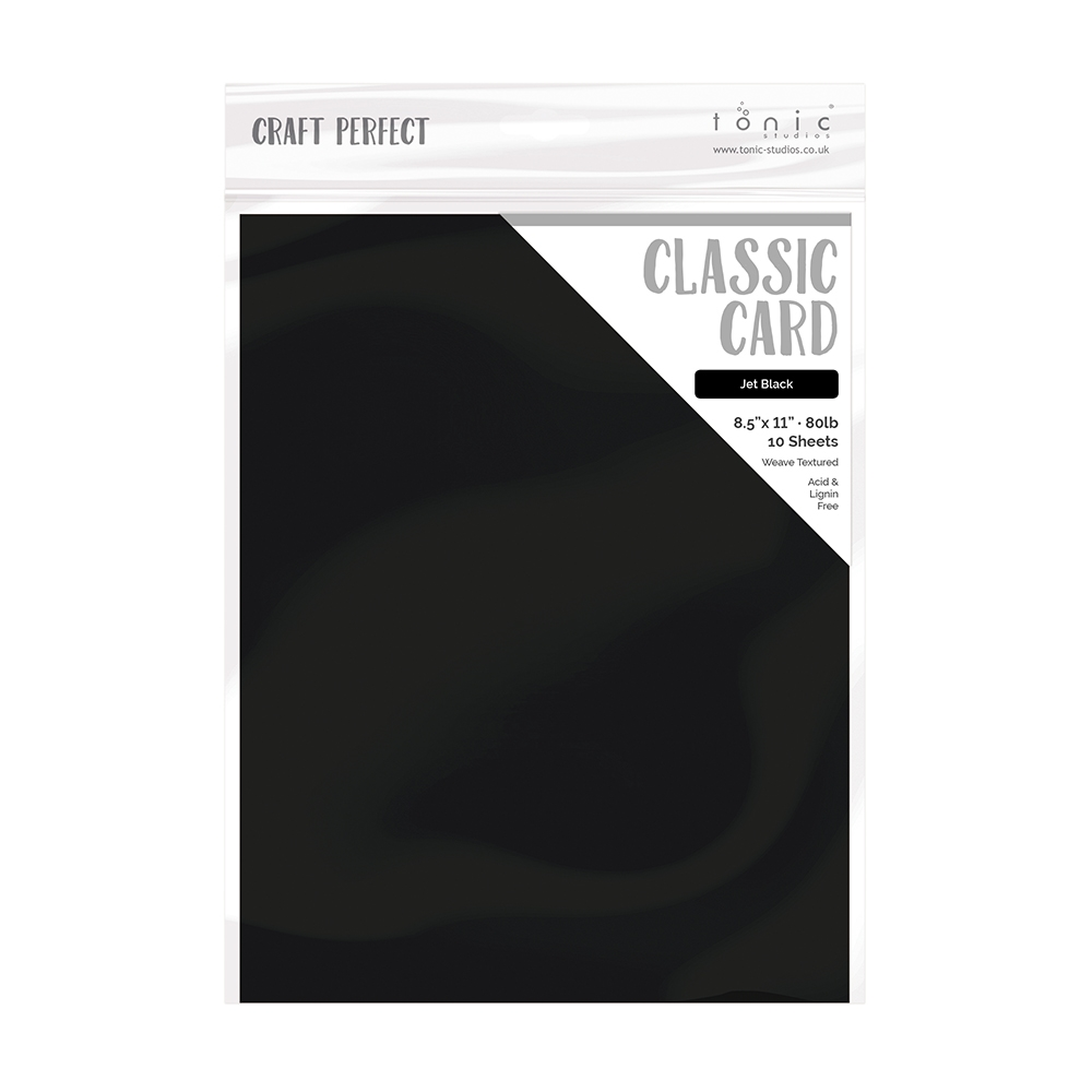 Tonic JET BLACK Craft Perfect Classic Weave Textured Cardstock 9611e zoom image