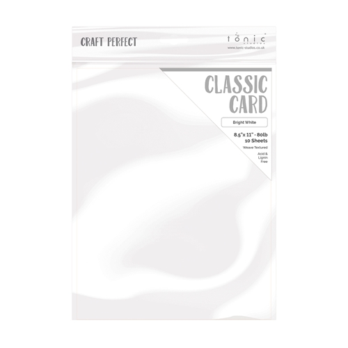 Tonic BRIGHT WHITE Craft Perfect Classic Weave Textured Cardstock 9616e Preview Image