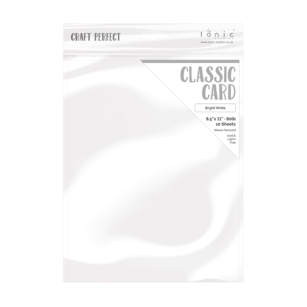 Tonic BRIGHT WHITE Craft Perfect Classic Weave Textured Cardstock 9616e zoom image