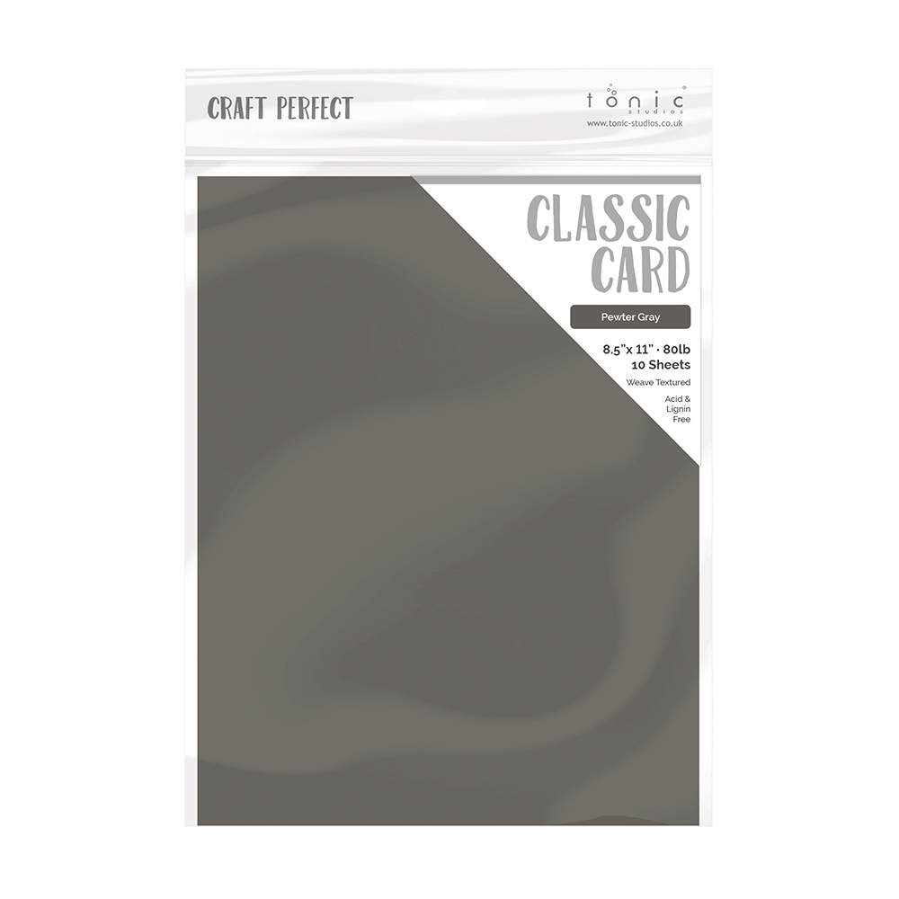 Tonic PEWTER GREY Craft Perfect Classic Weave Textured Cardstock 9622e zoom image