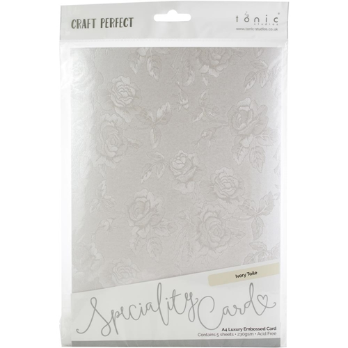Tonic IVORY TOILE Luxury Embossed A4 Paper Pack 9823e Preview Image