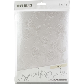 Tonic IVORY TOILE Luxury Embossed A4 Paper Pack 9823e*