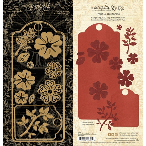 Graphic 45 LARGE TAG, ATC & FLOWER Staples Die 4501687 Preview Image
