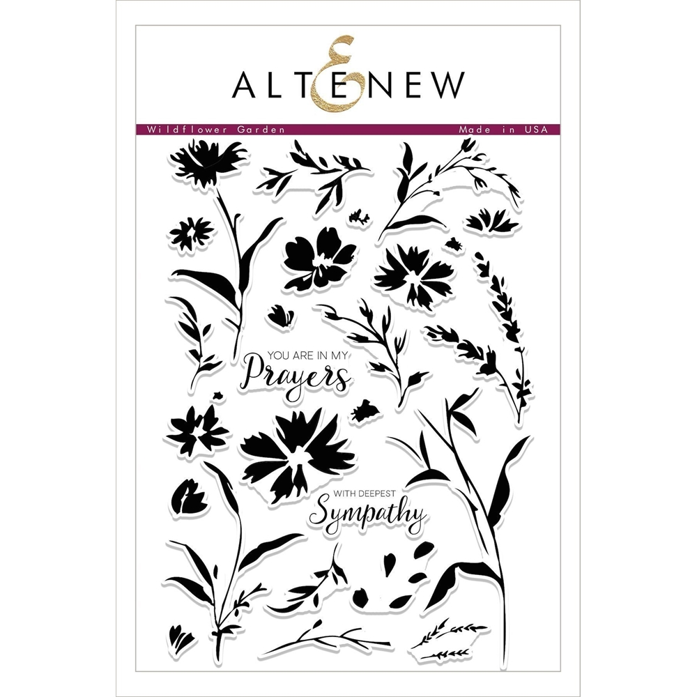 Altenew WILDFLOWER GARDEN Clear Stamp Set ALT2102 zoom image