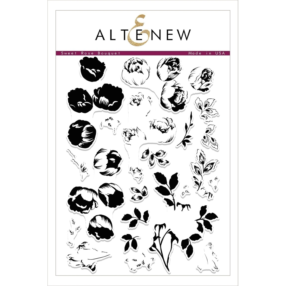 Altenew SWEET ROSE BOUQUET Clear Stamp Set ALT2099 zoom image