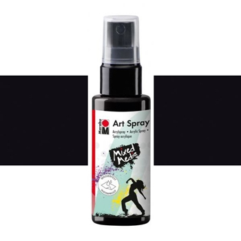 Marabu BLACK Acrylic Art Spray 120990050073*