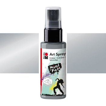 Marabu SILVER Acrylic Art Spray 12099005082*