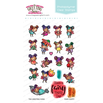 The Greeting Farm FAIRY HAPPY Clear Stamps TGF383