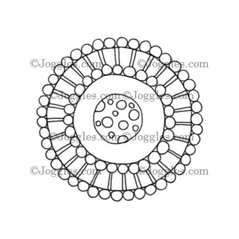 Joggles LARGE DOODLE CIRCLE Cling Rubber Stamp 33629*