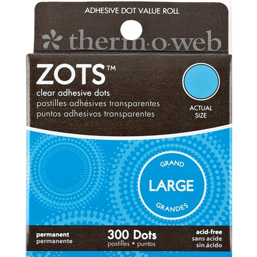 Therm O Web LARGE ZOTS Clear Permanent Adhesive Dot Value Roll 3783 Preview Image