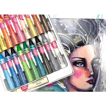 Jane Davenport POWER PASTELS Set with Tin Storage 320851