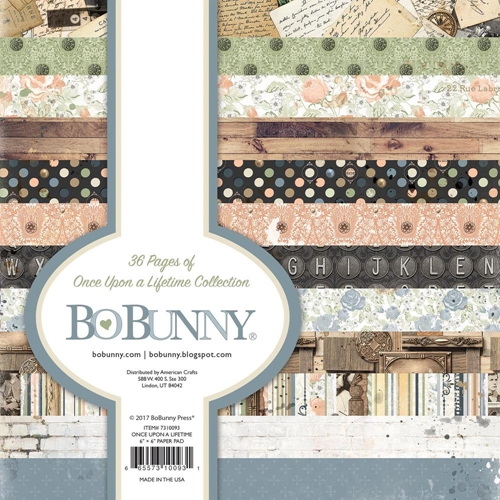 BoBunny 6 x 6 ONCE UPON A LIFETIME Paper Pad 7310093 Preview Image