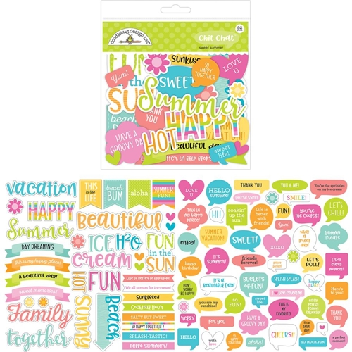 Doodlebug SWEET SUMMER Chit Chat Die Cut Shapes 5908* Preview Image