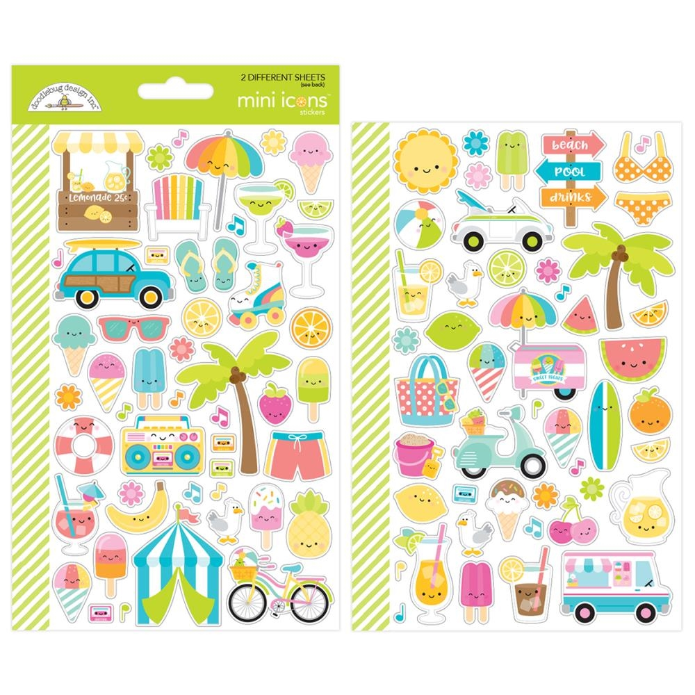 Doodlebug SWEET SUMMER Mini Icons Stickers 5911 zoom image