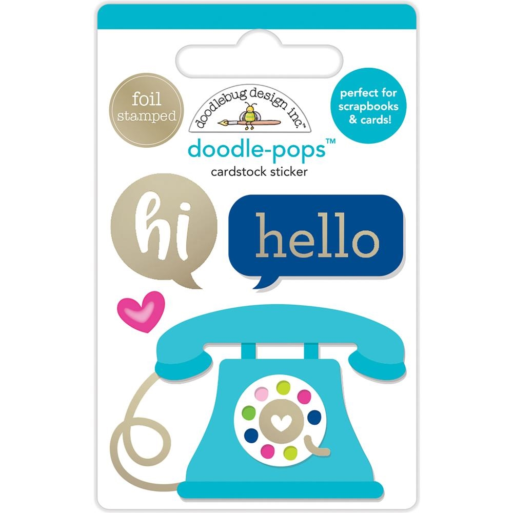 Doodlebug HELLO THERE Doodle Pops 3D Stickers 5870 zoom image