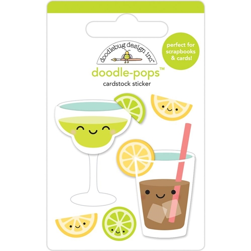 Doodlebug SUMMER SIPPERS Doodle Pops 3D Stickers Sweet Summer 5866 Preview Image