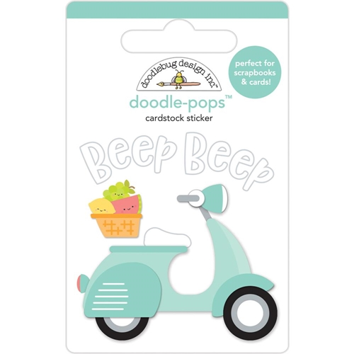 Doodlebug BEEP BEEP Doodle Pops 3D Stickers Sweet Summer 5868 Preview Image