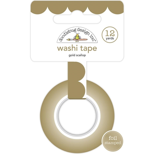 Doodlebug GOLD SCALLOP Washi Tape Hello 5892 Preview Image