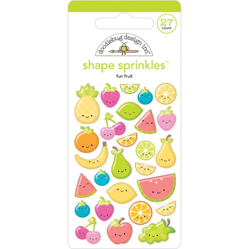 Doodlebug FUN FRUIT Shape Sprinkles Sweet Summer 5840 zoom image