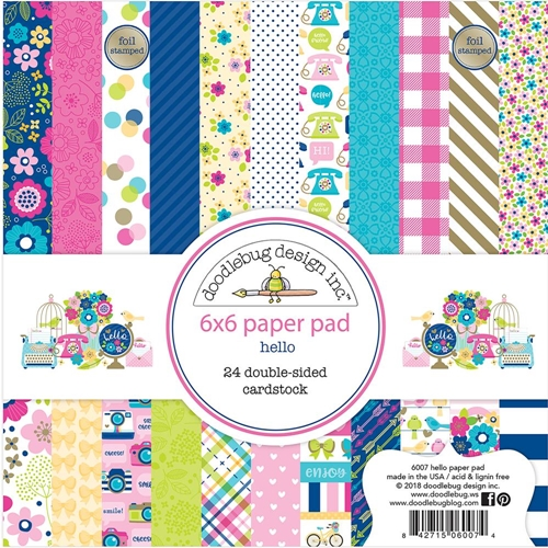 Doodlebug HELLO 6x6 Inch Paper Pad 6007 Preview Image