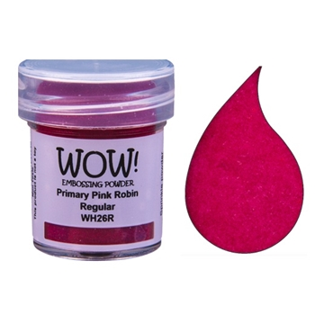 WOW Embossing Powder PRIMARY PINK ROBIN WH26R