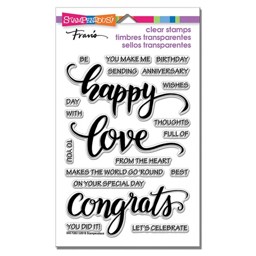 Stampendous Clear Stamps BIG WORDS HAPPY ssc1282 Preview Image