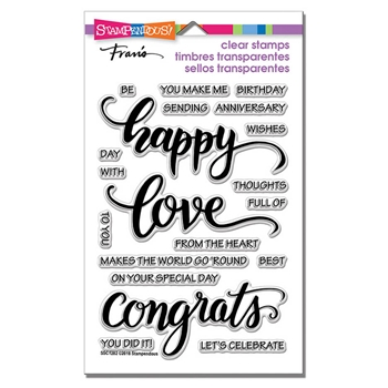 Stampendous Clear Stamps BIG WORDS HAPPY ssc1282