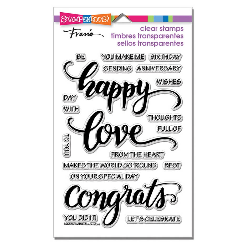 Stampendous Clear Stamps BIG WORDS HAPPY ssc1282 zoom image