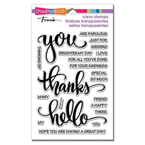 Stampendous Clear Stamps BIG WORDS THANKS ssc1283 Preview Image
