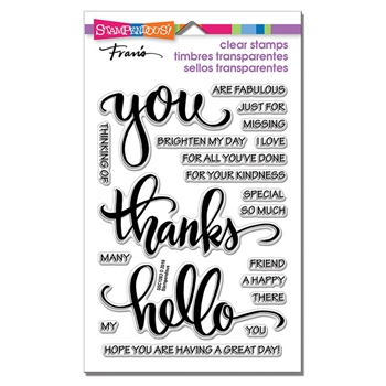 Stampendous Clear Stamps BIG WORDS THANKS ssc1283