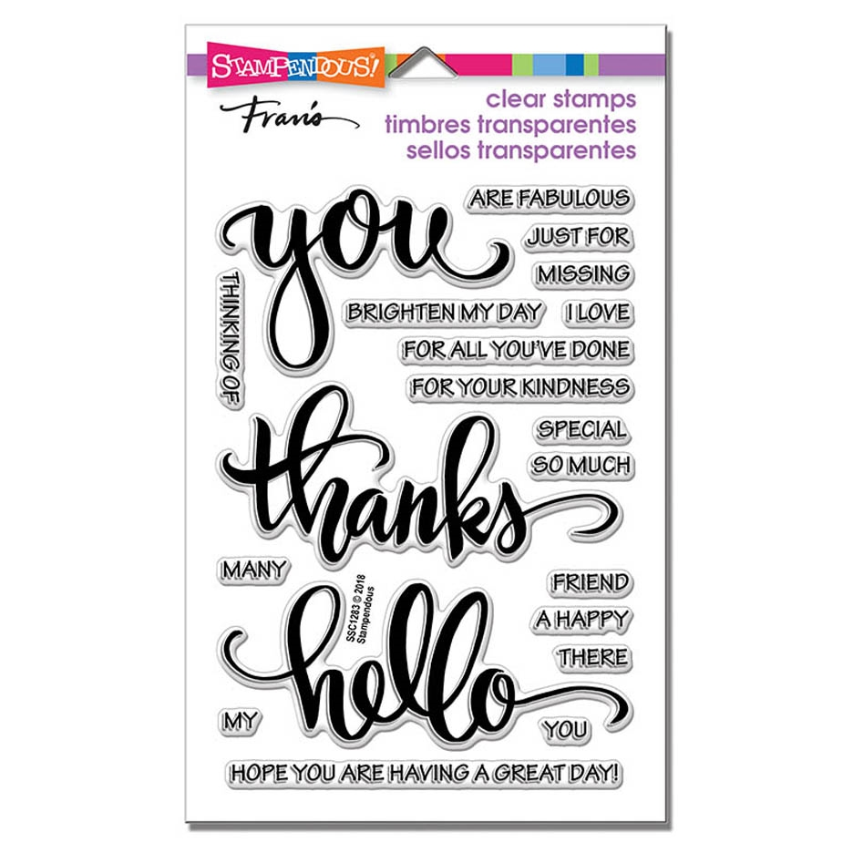 Stampendous Clear Stamps BIG WORDS THANKS ssc1283 zoom image