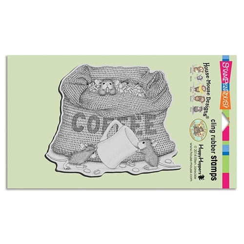 Stampendous Cling Stamp COFFEE BREAK Rubber UM hmcr114 House Mouse* Preview Image