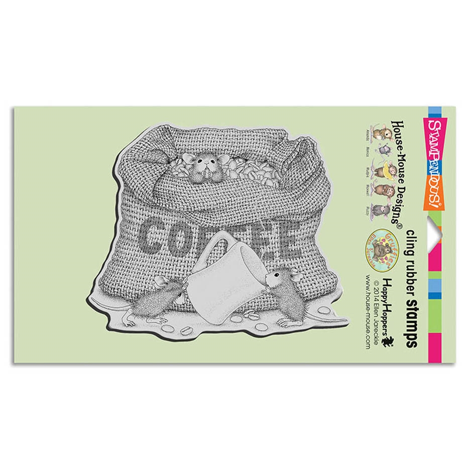 Stampendous Cling Stamp COFFEE BREAK Rubber UM hmcr114 House Mouse* zoom image