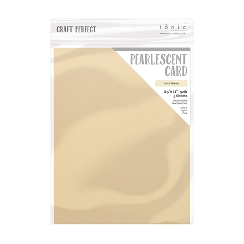 Tonic IVORY SHEEN Pearlescent Cardstock 9542e Preview Image