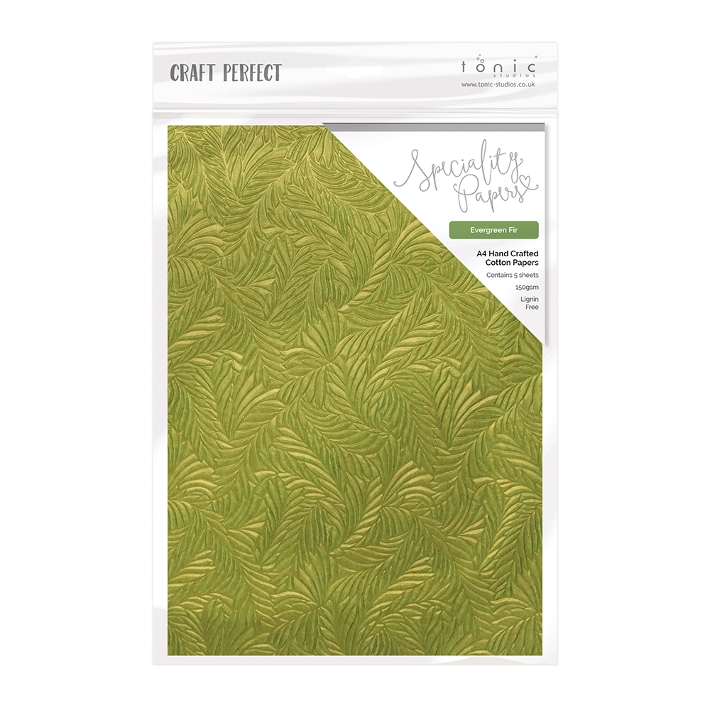 Tonic EVERGREEN FIR Luxury Embossed A4 Paper Pack 9878e zoom image