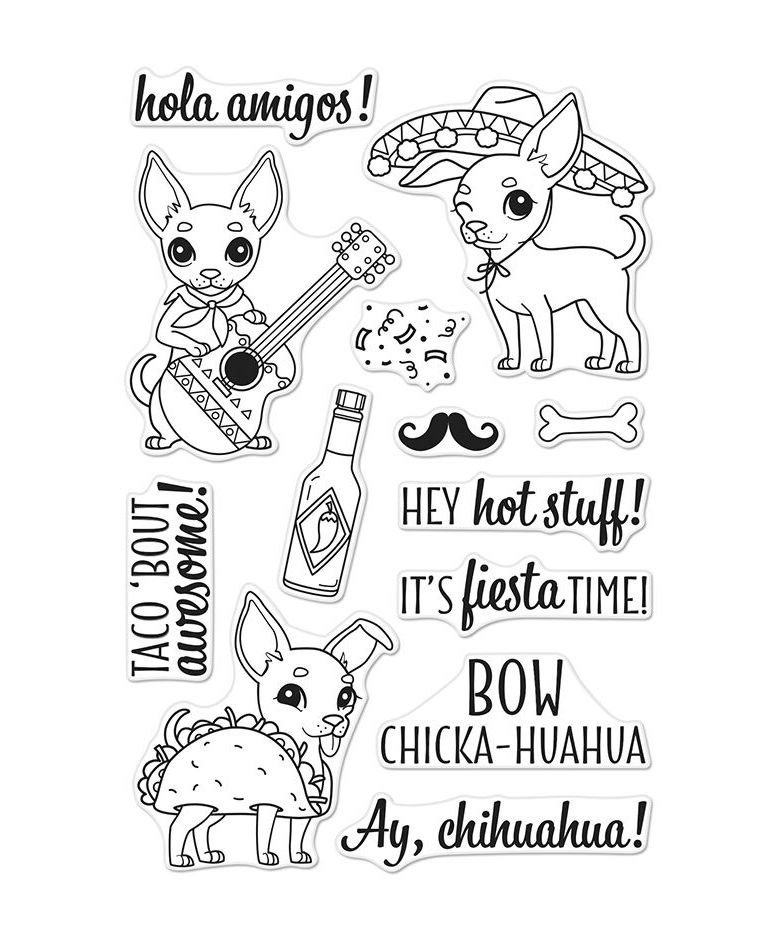 Hero Arts Clear Stamps IT'S FIESTA TIME CM252 zoom image